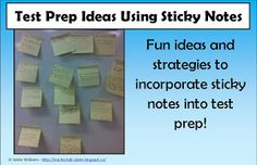 Test prep strategies with sticky notes!