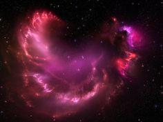 Pink Stars Cloud Mac Wallpaper