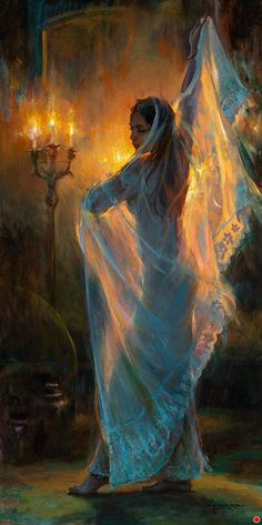 Wrapped in Light by Dan Gerhartz Oil ~ 60 x 30 Art Inspo, Inspiration Art, Art Et Illustration, Classical Art, Renaissance Art, Pretty Art, Aesthetic Art, Beautiful Paintings, Oeuvre D'art