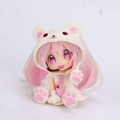 Pink Snow Miku Polar Bear Costume Animation Nendoroid Hatsune Miku Gift New Hatsune Miku, Manga Drawing, Manga Art, Anime Art, Anime Chibi, Kawaii Anime, Pink Snow, Pokemon, Anime Toys