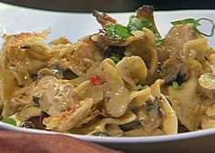 Turkey Tetrazzini from FoodNetwork.com........substituted obvious things to make lighter version