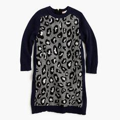 J.Crew - Girls' sweater-dress in leopard