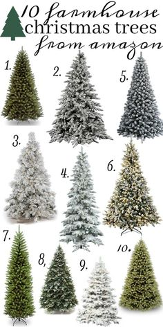 The 10 Best farmhouse style christmas trees all from Amazon!