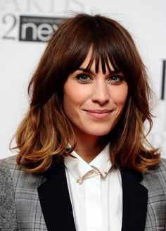 Alexa Chung layered haircut