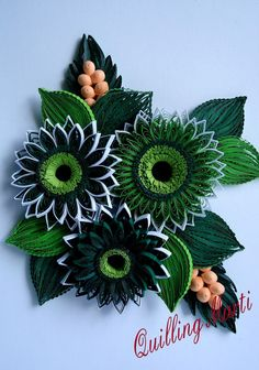 Quilling Marti: Green Quilling Picture part 3
