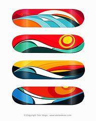 Tom Veiga's #skateboard designs