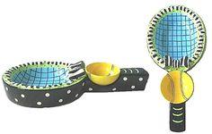 Tennis Racquet Chips & Dip Set