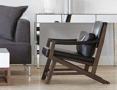 Structube - Living room : Armchairs : Kanji (Black oak) ($299)