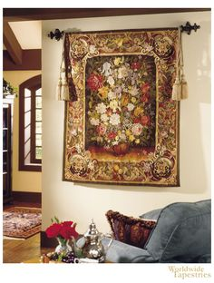 Handwoven Winter Floral Hand Made in China of wool. $3,117.00