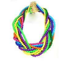 KATE SPADE COLORFUL MULTI BEADS NECKLACE [KS102] - $69.00 - lucky brand , j.crew , lia sophia jewelry on sale !