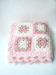 Baby Newborn Blanket Photography prop Handmade Crochet by nerina52 on etsy.