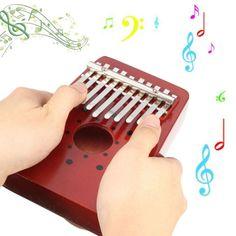 10-Keys-Red-Wooden-Thumb-Piano-Kalimba-Mbira-Musical-Instrument-Accompaniment