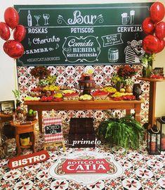 Painel estilo lousa para Festa Boteco   Produção: Priscila Melo   Arte: Quero uma festa