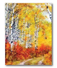 Look at this #zulilyfind! Birch Tree Country Road Wall Art #zulilyfinds