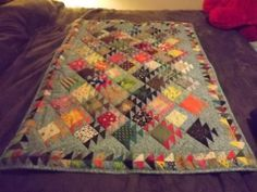 something fishy  baby size quilt