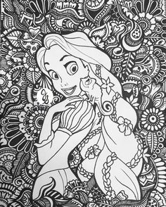 Tangled for princesscasey by jamierose #coloringpage