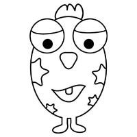 eggward the alien childrens colouring page view and download our beautiful coloring page of eggward - Childrens Pictures To Colour In