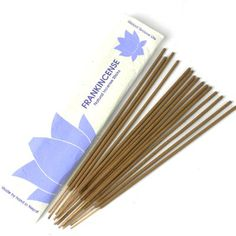 Stick Incense, Frankincense - Hand made in Nepal using traditional techniques and all-natural ingredients, these sticks burn for minutes. 15 in each environmentally-friendly Lokta paper sleeve. Essential Oil Bottles, Pure Essential Oils, Vanilla Oil, Aromatherapy Oils, Incense Sticks, Home Fragrances, Nepal, Traditional, Paper