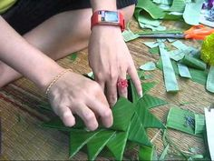 How to make a krathong... scroll to 6 mins... 8 mins is where the funny music starts