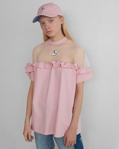 Disney x Lazy Oaf Aristocats Sheer Frilly T-Shirt