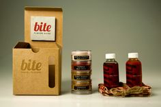 """Bite is the ultimate source for adding flavor to any camping, backpacking or hiking trip. The kit contains a variety of portable spices and sauces, as well as a flavoring guide, to add some much needed seasoning to otherwise bland trips. The identity and design of the system is reflective of the natural environment, but spiced up with some modern styling."""