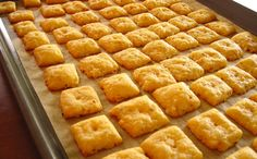 Melt-in-your-mouth Homemade Cheese Crackers are so addictive! Please click on the photo in Yumgoggle to get to this delicious recipe. Enjoy!