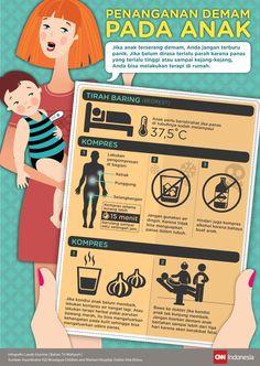 Menggunakan Bahan Rumahan untuk Redakan Demam Anak Kids And Parenting, Parenting Hacks, Baby Spa, Baby Massage, Midwifery, Baby Health, Health Education, Baby Care, Health Tips