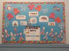 Autism Ambassador Fleurdelis Rosario-Cruze created an Autism Awareness Month Bulletin Board.