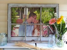 Vintage Farmhouse Window Can Be Used For A Fun Picture Frame