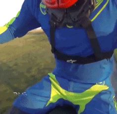 Seat Grab Stunt Gone Bad. Gopro of a motocross stunt rider missing the seat in a superman stunt.