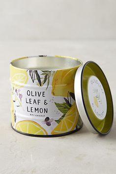 Farmer's Market Candle - Olive Leaf & Lemon