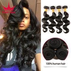 7a Gelombang Tubuh Brazilian 4 Bundel Brazilian Rambut Perawan Manusia Brazillian Perawan Rambut Tubuh Gelombang Menenun rambut Bundel Murah 4 bundel