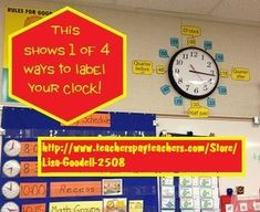 This 48 page file is jam-packed with number labels for your classroom wall clock (4 styles in color and blackline masters), plus many coordinating activities so it can be a true instructional tool for your Telling Time unit. Activities include sorting mat, 144 playing cards for 4 games. Classroom Walls, Classroom Themes, Clock Labels, Time Unit, Special Education Math, Number Labels, Telling Time, Math Activities, Teacher Resources