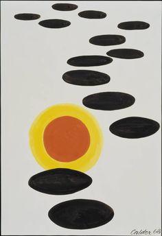 Alexander Calder, Saucers Skirting a Planet (1968, ink and gouache on paper, Walker Art Center, Minneapolis, Minnesota)