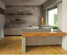 Cocinas en cemento pulido   Decoración