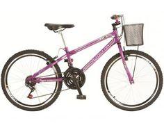 Bicicleta Colli Bike Allegra City Aro 24 - 21 Marchas com Cesta