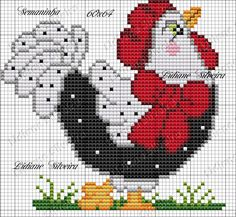 This Pin was discovered by oks Rooster Cross Stitch, Chicken Cross Stitch, Cross Stitch Kitchen, Mini Cross Stitch, Cross Stitch Borders, Cross Stitch Animals, Cross Stitch Charts, Cross Stitching, Cross Stitch Embroidery