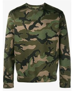 VALENTINO Camouflage Sweatshirt. #valentino #cloth #