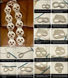 Skull Crocheted Scarf - DIY - this would be really cute for Halloween
