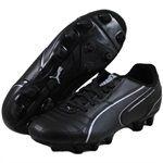 PUMA Childrens MOMENTTA FG JR Black soccer shoes