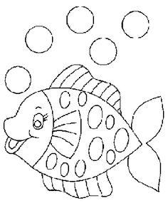 Little Mermaid - Fish - shadow puppet template
