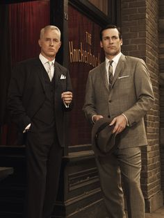 Jon Hamm and John Slattery-Mad Men. It's a TV show but whatever
