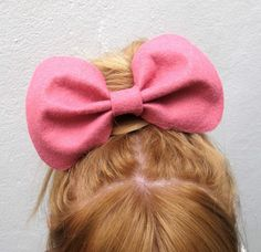 Big Betty Bow // Spring Collection Felt Hair Bow by hellobettybow Felt Hair Bows, Spring Collection, Trending Outfits, Unique Jewelry, Handmade Gifts, Big, Etsy, Accessories, Vintage