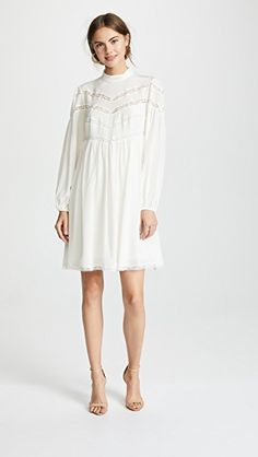 66fe8937bd Zimmermann Chevron Lace Dress | SHOPBOP SAVE UP TO 25% Use Code: GOBIG19  Babydoll