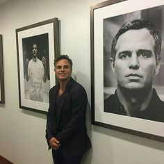 """markruffalo: """"Hanging out at HBO pitching Wally Lamb's """"I Know This Much Is True"""". With Derek Cianfrance and FilmNation Entertainment. Thanks for the meeting and thanks for honoring Larry Kramer in. Mark Ruffalo Hulk, Wisconsin, Larry Kramer, Bruce Banner Hulk, Joe Manganiello, Real Hero, Marvel Actors, Jeremy Renner, Sylvester Stallone"""