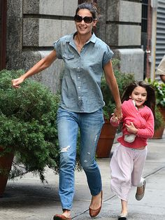 Latest picture...Katie Holmes, Suri Cruise. They look good.
