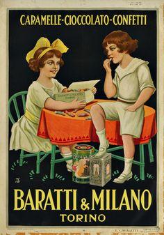 Turin, capital city of Italian chocolate - Italian Ways Vintage Italian Posters, Pub Vintage, Poster Vintage, Vintage Movies, Retro Advertising, Retro Ads, Vintage Advertisements, Old Posters, Art Deco Posters