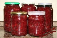 Заготовка для борща, на зиму (борщ в банке) Kimchi, Preserves, Pickles, Food And Drink, Yummy Food, Delicious Recipes, Cooking Recipes, Meals, Canning