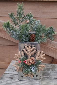 Primitive Christmas Grater Arrangement by ToastyBarkerBoutique on Etsy