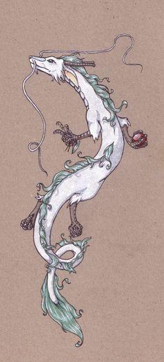 white dragon by mini-mei on DeviantArt